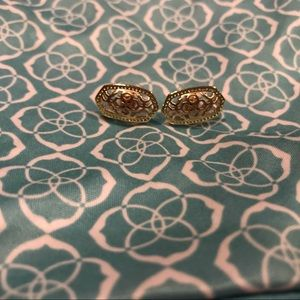 Kendra Scott Yellow & Rose Gold Filigree Earring